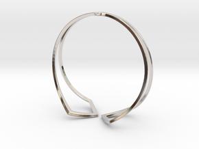 HIDDEN HEART Bracelet. Pure Elegance  in Rhodium Plated Brass: Medium