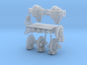 1-18_dana_44_axle_set in Smooth Fine Detail Plastic