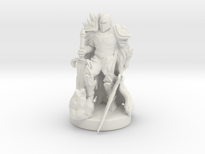 Antipaladin with Dual Massive Swords in White Natural Versatile Plastic