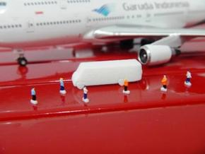 Airport GSE 1:400 Crew bus  in White Strong & Flexible Polished
