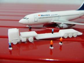 AIrport GSE 1:400 Truck Trailer Lowbed in White Strong & Flexible Polished