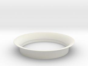 Dynamax intake lip (for stock shroud) in White Natural Versatile Plastic