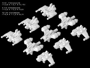(Armada) SWTOR Fighter Set IX in Smooth Fine Detail Plastic