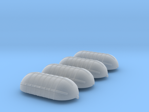 2x Large WWII Oxygen Tank-style Gas Tanks in Smooth Fine Detail Plastic