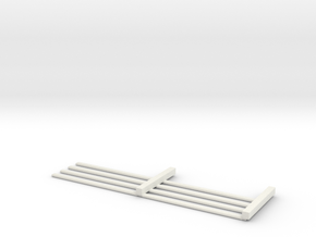 HO Scale 4 rail Fence MK.1 in White Natural Versatile Plastic
