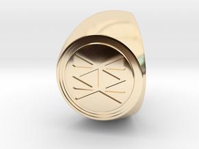Custom Signet Ring 74 in 14k Gold Plated Brass
