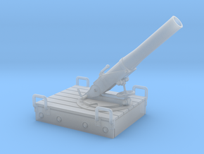 1/35th scale 18M 14cm mortar with base in Smooth Fine Detail Plastic
