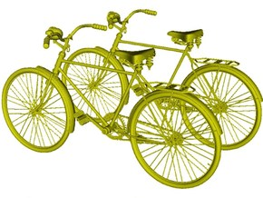 1/20.3 scale WWII Wehrmacht M30 bicycles x 2 in Smooth Fine Detail Plastic