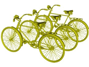 1/22 scale WWII Wehrmacht M30 bicycles x 3 in Smooth Fine Detail Plastic