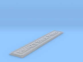 Nameplate HMNZS Black Prince in Smoothest Fine Detail Plastic