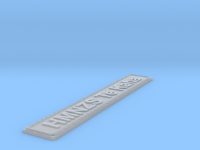 Nameplate HMNZS Te Kaha in Smoothest Fine Detail Plastic