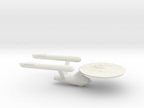 3125 Scale Franz Joseph Federation Heavy Cruiser in White Natural Versatile Plastic