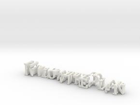 3dWordFlip: Follow the Plan/HardneTheFuckUp in White Natural Versatile Plastic