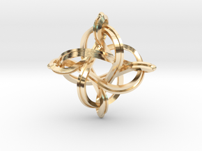 Premium infinity pendant 36mm in 14k Gold Plated Brass