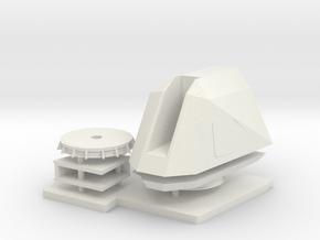 1:96 MK110 57MM Naval Gun System in White Natural Versatile Plastic