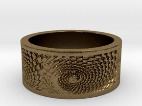 Swirlee Ring Women's Size 8.5 in Polished Bronze