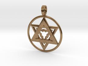 MIND, BODY, SPIRIT TRINITY in Natural Brass