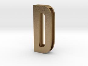 CHOKER SLIDE LETTER D 1⅛, 1¼, 1½, 1¾, 2 inch sizes in Polished Gold Steel: Medium