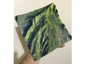 """HURT100 Course Map, Hawai'i: 8""""x8""""@1:20,000 Scale in Full Color Sandstone"""