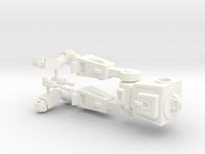WST Decepticon Sentinel.  Approx 52mm tall. in White Processed Versatile Plastic