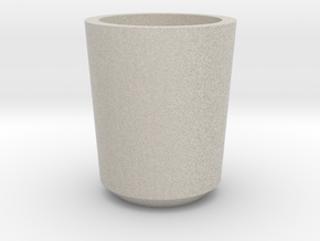 Shot glass Planter1 in Natural Sandstone