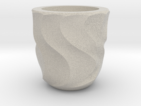 Shot Glass Planter2 in Natural Sandstone