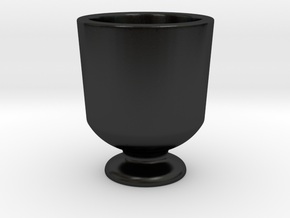 Shot glass 4 stand(Porcelian) in Matte Black Porcelain
