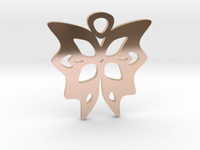 Butterfly Pendant in 14k Rose Gold Plated Brass
