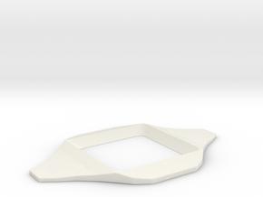 Letter Guide in White Natural Versatile Plastic