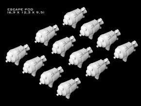 (Armada) 12x Escape Pod in Smooth Fine Detail Plastic