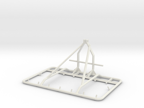 Chain Harrow 1/32 Small - 3 Point Frame in White Natural Versatile Plastic