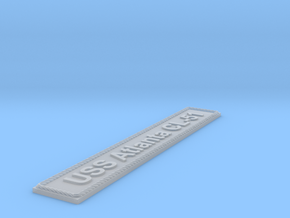 Nameplate USS Atlanta CL-51 in Smoothest Fine Detail Plastic