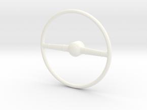 40 Ford 1/12 steering wheel in White Processed Versatile Plastic