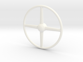 40 Ford 1/8 truck steering wheel in White Processed Versatile Plastic