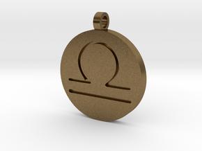 Libra Pendant in Natural Bronze