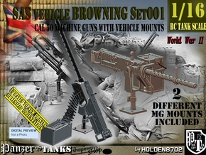 1/16 Browning cal 50 M2 set001 in Smooth Fine Detail Plastic