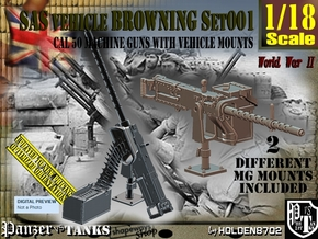 1/18 Browning cal 50 M2 set001 in Smooth Fine Detail Plastic