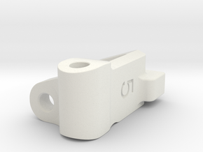 Five Seven Designs Plus 5 Right Front Caster Block in White Strong & Flexible
