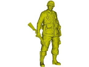 1/32 scale D-Day US Army 101 Airborne soldier in Smooth Fine Detail Plastic