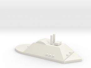 City Class Gunboat in White Natural Versatile Plastic
