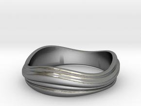 Ebb and Flow Ring No.2 - Size 7 in Polished Silver