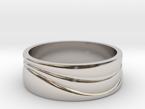 Ebb and Flow Ring No. 3 - Single Wave, Size 9 in Platinum