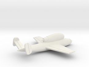 (1:144) Henschel Hs 132  in White Natural Versatile Plastic