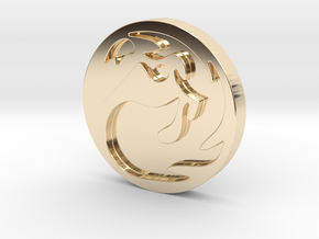Mountain Token in 14k Gold Plated Brass