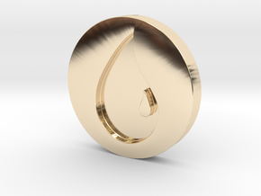 Island Token in 14k Gold Plated