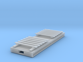 RAR bogie flat slatted ends in Smooth Fine Detail Plastic: 1:43.5