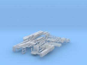 1:32 moderner Z-Kran mit Holzgreifer in Smooth Fine Detail Plastic