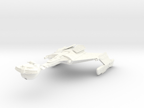 D 3 Battlecruiser in White Processed Versatile Plastic