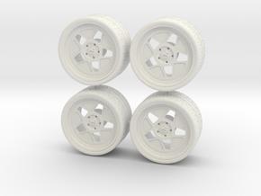 1:24 Hoonicorn Fifteen52 wheels in White Natural Versatile Plastic