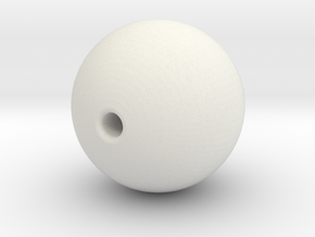 Ball 10mm Bead in White Natural Versatile Plastic